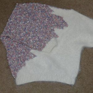 Vintage Nannell Angora and knit sweater